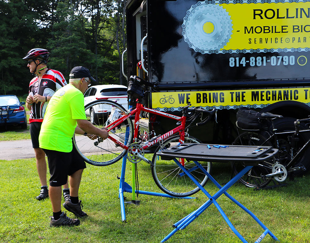 onsite bike repair shop
